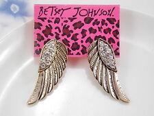 Betsey Johnson fashion jewelry wings earrings # A