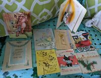 Mid Century Modern Greeting Card Lot Xmas Father's Day Birthday Pop Out vtg