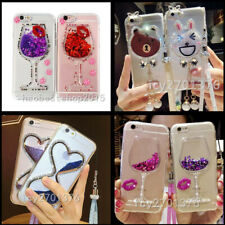 Bling Glitter Hourglass Soft Phone Case With 2 Glass Screen Protectors & strap J