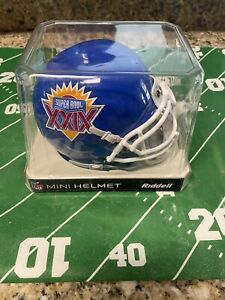 VINTAGE San Francisco 49ers Super Bowl XXIX Logo Mini Helmet NIB Metal Facemask