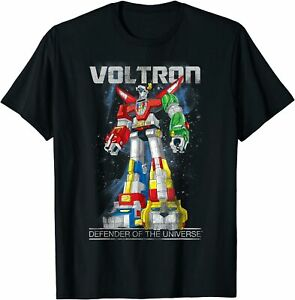 Voltron Retro Defender Space Distressed T-Shirt Size For Adult And Kid