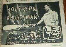 MACON GEORGIA TV GUIDE~RALPH GLOVIER SOUTHERN SPORTSMAN~WDTB NEWS NORM MILLER