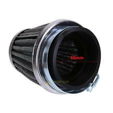 60mm 2 Layer Cold Air Intake Filter Cleaner Turbo Motorcycle Replacement Parts #
