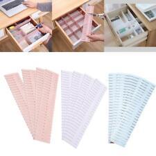 6Pcs Adjustable Clapboard Drawer Wardrobe Divider Partition Organiser A9V4