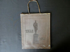 1918 YALE University ELI'S Embossed Nathan Hale Leather Cover Yearbook RARE