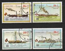 Bateaux Saint Thomas et prince (108) série complète de 4 timbres oblitérés