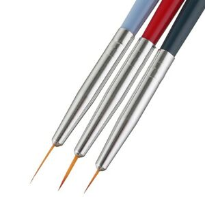 3pcs UV Gel Nail Art Design Painting Drawing Colorful Line Grid Brush Pen Tools