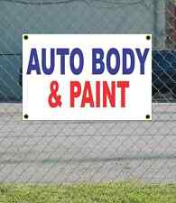 2x3 AUTO BODY & PAINT Red White & Blue Banner Sign NEW Discount Size & Price