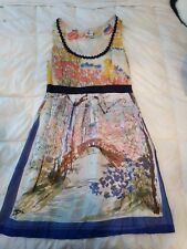 Anthropologie silk Dress We Love Vera. New York Central Park size 10