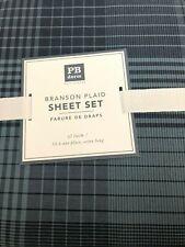 POTTERY BARN Teen Branson Plaid Sheet Set TWIN