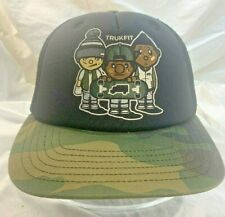 TRUKFIT ORIGINAL CAMO Snapback Hat Black w/ Camo Brim Skateboard Hat