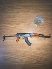 1/6 Metal and Wood Type 56-1 AK Rifle with folding stock and Ammo & Empty shells