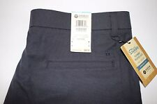 NWT HAGGAR 36x32 Men's Flat Front Midnight STRAIGHT FIT Performance Weave Pant