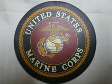US Marines Corps Leather Patch For Biker Leather Jackets & Vests Made in the USA