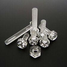 25/100pcs Acrylic Clear Plastic M3 Round Phillips Cross Pan Head Screw Bolt Nut