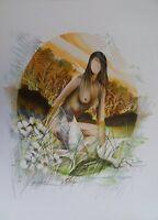 Poulet Raymond: Eve - Litografía Firmada Y Numerada 250ex # Paradise