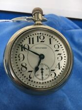 Antique Waltham Vanguard 18s Railroad Pocket Watch 23j Model 1892 Dual Time Zone