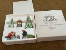 """Department 56 Heritage Village """"New England Winter Accessory Set"""" #6532-3"""