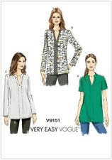 Vogue Sewing Pattern 9151 Tops Tunics L-XXL 16-26 Very Easy Pullover Back Yoke