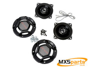 JVC 2 Way CS-DR420 Headrest Speakers Mazda MX5 Eunos Miata Mk1 NA 1989>1998