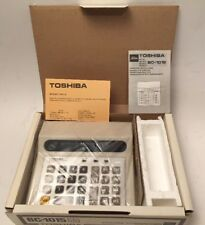 Vintage Toshiba BC-1015 WHITE Desktop Calculator w/ Box & Instructions Excellent