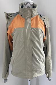 Womens Trespass Waterproof 2000 Coat Jacket Beige & Orange Size Large