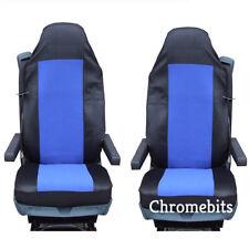 2 / Paire tissu bleu Housses de siège auto sur mesure pour Volvo camion FH12 FH