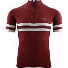 Torm T1 merino SportWool cycling jersey - Claret/White - XXL