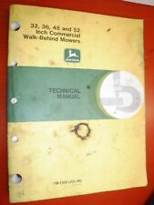 JOHN DEERE 32 36 48 52 COMMERCIAL WALK BEHIND MOWERS TECHNICAL SERVICE MANUAL