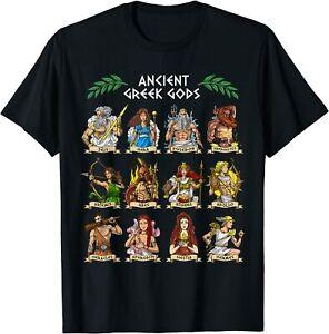 Greek Mythology Gods Ancient Greece T-Shirt Size S -5XL