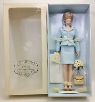 The Franklin Mint Princess Diana Doll Light Blue Chanel Suit