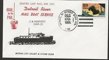 1991 Detroit Riverboat Mail Service, Last Mail Run