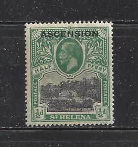"""ASCENSION - 1 - USED - 1922-""""ASCENSION"""" O/P ON ST HELENA  SCENE & KING GEORGE  V"""