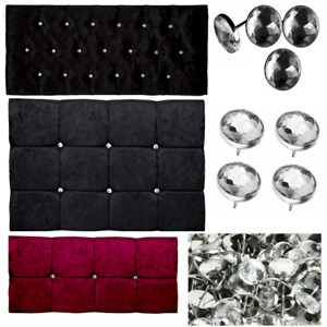 Nail Back 22 mm Diamante Crystal Glass  Buttons Upholstery Headboard Sofa Chair.