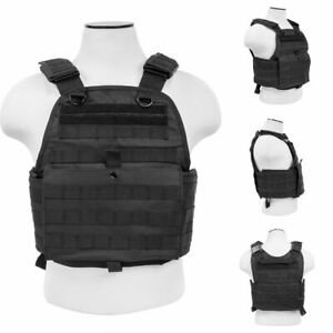 ARMORED VEST BULLETPROOF CARRIER Army Tactical Police SWAT M Large XL 2XL BLACK