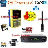 DVB-S/S2 GTmedia HD Digital Satellite Finder LNB+FTA 1080P TV Receiver+USB WIFI