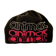 Genuine Animal Hat Beanie Brown Pink Spell Out Branded One Size Accessory VGC