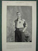 1897 Stampa Famoso Calciatori ~ E.J.Taylor Southampton San MARY'S