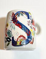 "STARLA M. HALFMANN Anthropologie Petal Palette Monogram Mug Letter ""S""."