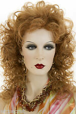 Ginger Red Medium Wavy Curly Wigs