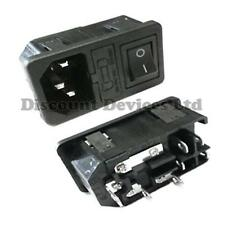 IEC Power/Main Entry Module With Black Switch/Fuse Holder