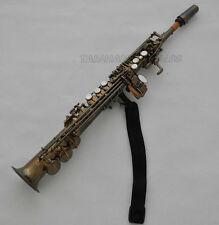 Professional Antique Eb Sopranino Saxophone Sax Low B to high F# FREE mouthpiece