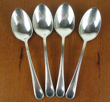 """4 x Teaspoons 5 5/8"""" Birks Regency Plate York vintage silver silverplate"""