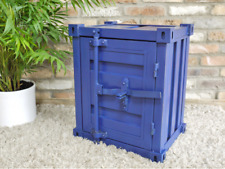 Vintage Industrial Container Bedside Cabinet Table Drawers Statement Piece