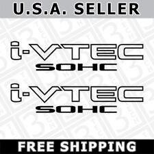 [#34] 2x Black i-VTEC SOHC Vinyl Decal Stickers Emblem Honda Acura ivtec