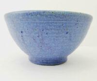 Studio Art Pottery Cereal Soup Bowl- Matte Powder Blue Glaze- Artist Signed