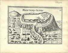 Antique map, Montigny le Roy (Montigny le Roi)
