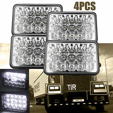 "For Freightliner Classic Truck 4""x6"" LED Headlight Clear Sealed Hi/Low Beam 4PCS"