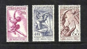 Czechoslovakia 1958 Sports Events short set of 3 values used