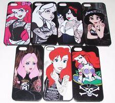 Tattoo Punk Emo Goth Disney Princess Cases For iPhone 4 5 5S 5C 6 6S 7 8 Plus